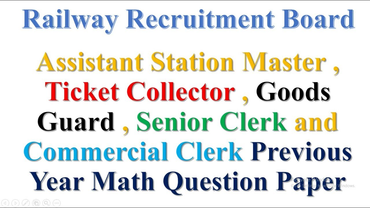 Rrb Asm Previous Question Papers Pdf In Hindi
