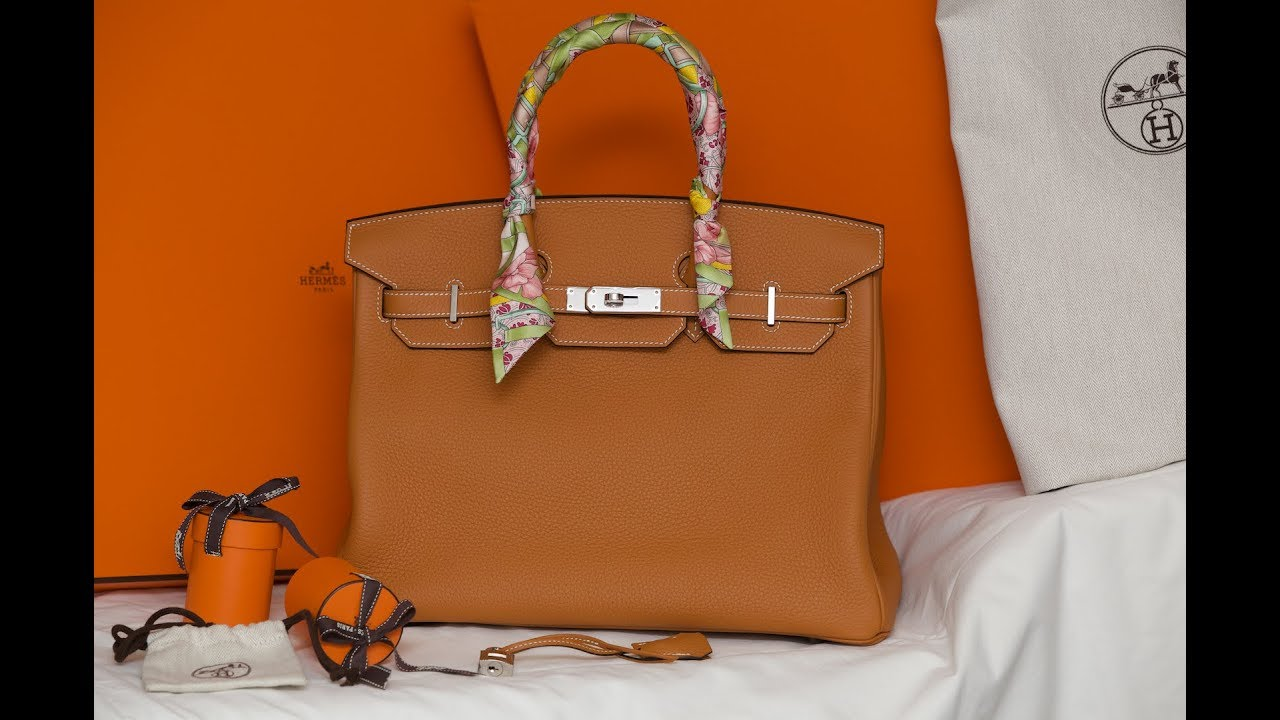 Unboxing the Hermes Birkin Bag 35 in Toffee - YouTube 39d40a81c2