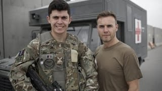 Gary Barlow   Journey To Afghanistan HD (Part 1/4)(Gary Barlow flies 4000 miles to Afghanistan for the toughest gig of his life, as he puts on a show for a thousand British servicemen and women in Camp Bastion., 2013-12-24T02:01:23.000Z)