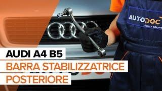 Come sostituire barra stabilizzatrice posteriore su AUDI A4 B5[TUTORIAL]