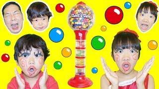 ★「巨大ガムボールマシーン!」パパ子メイクもしたよ!★Giant gumball machine★ thumbnail