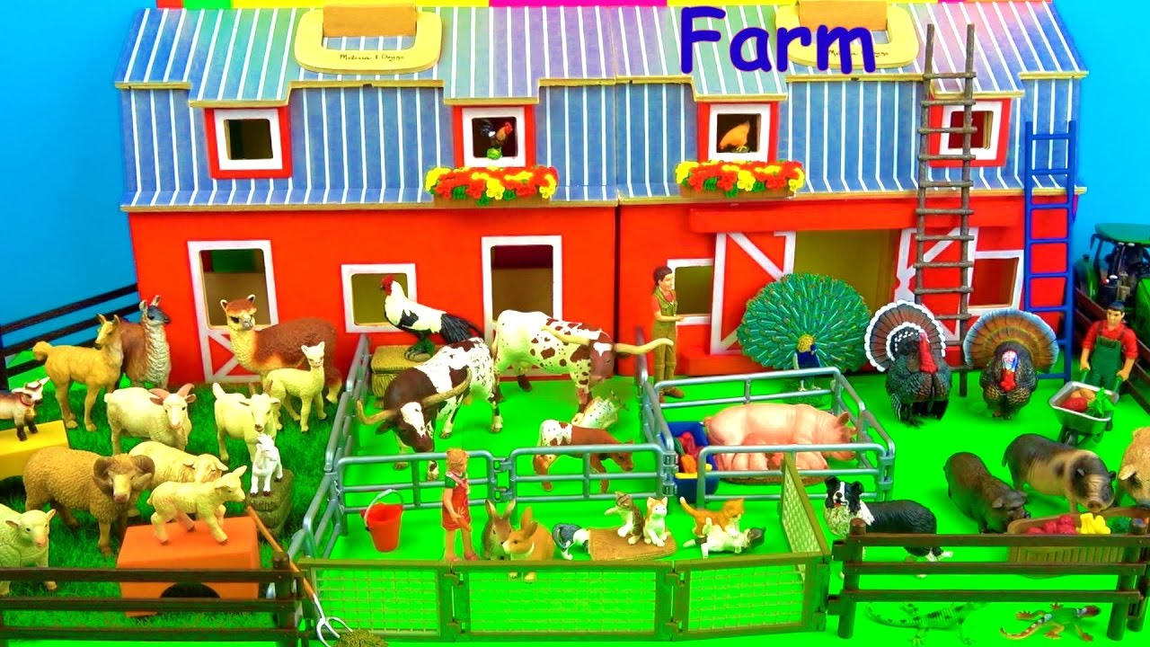Farm Animals - Toys for Kids - Pigs Goats Sheep Cows - Fun ...
