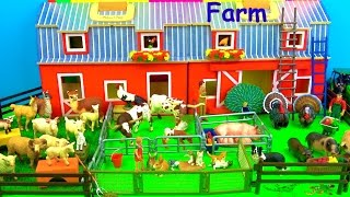 Farm Animals - Toys for Kids - Pigs Goats Sheep Cows - Fun & Educational - Learn in English