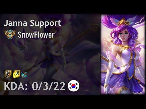 Janna Support vs Karma - SnowFlower - KR Challenger Patch 6.21