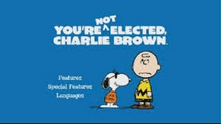 You're Not Elected, Charlie Brown (1972) Movie Review by JWU