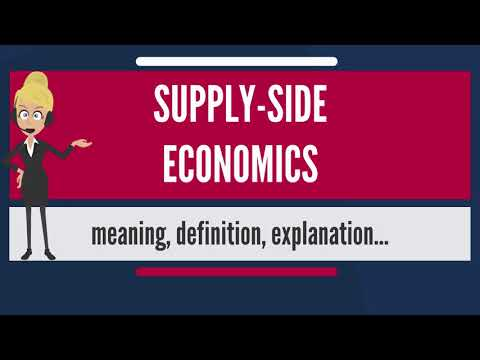 What is SUPPLY SIDE ECONOMICS? What does SUPPLY SIDE ECONOMICS mean? SUPPLY SIDE ECONOMICS meaning