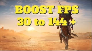 Assassin's creed origins - How to BOOST FPS and performance on any PC!
