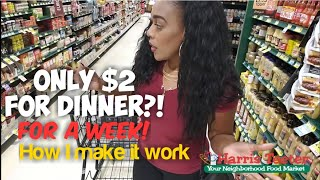 $2 dinner & drinks for a week! Cheap meals!