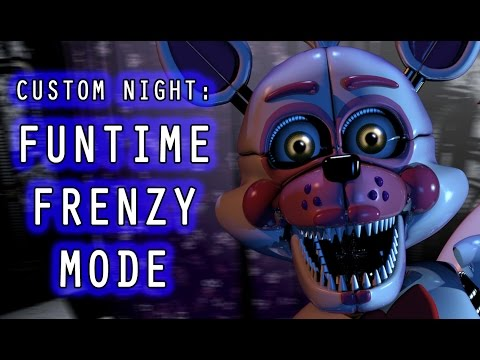 FUNTIME FOXY PLAYS: Sister Location Custom Night || FUNTIME FRENZY MODE COMPLETED!!!