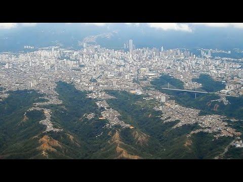 Espectacular vista aérea de la ciudad de Bucaramanga