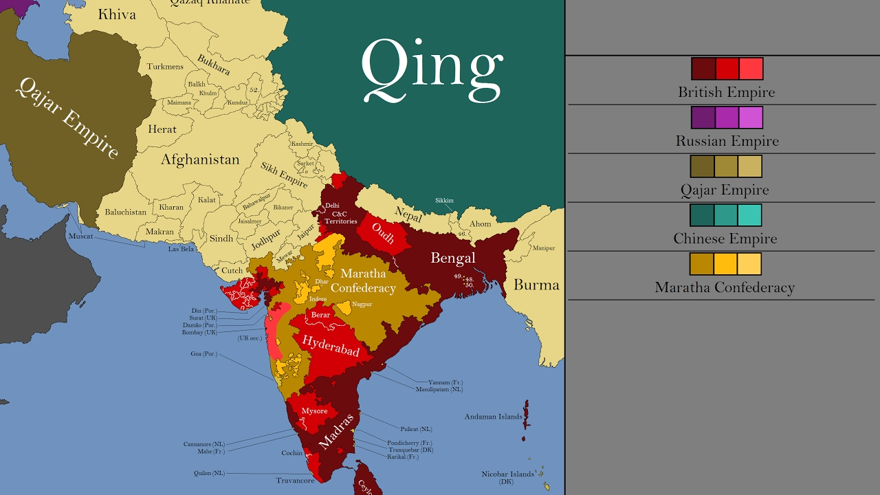 South Of Asia Map.The History Of South Asia Every Year