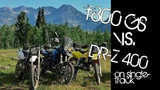 BMW f800GS Dominates DRZ 400 on a Singletrack! o#o