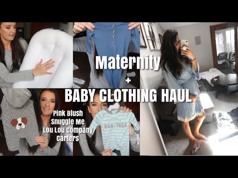 Maternity + Baby Clothes Haul | Lou Lou Company, Pink Blush, Snuggle Me!