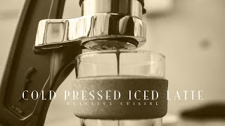 [No Music] How to make Cold Pressed Iced Latte