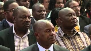 A jovial President Uhuru Kenyatta shows his funny side
