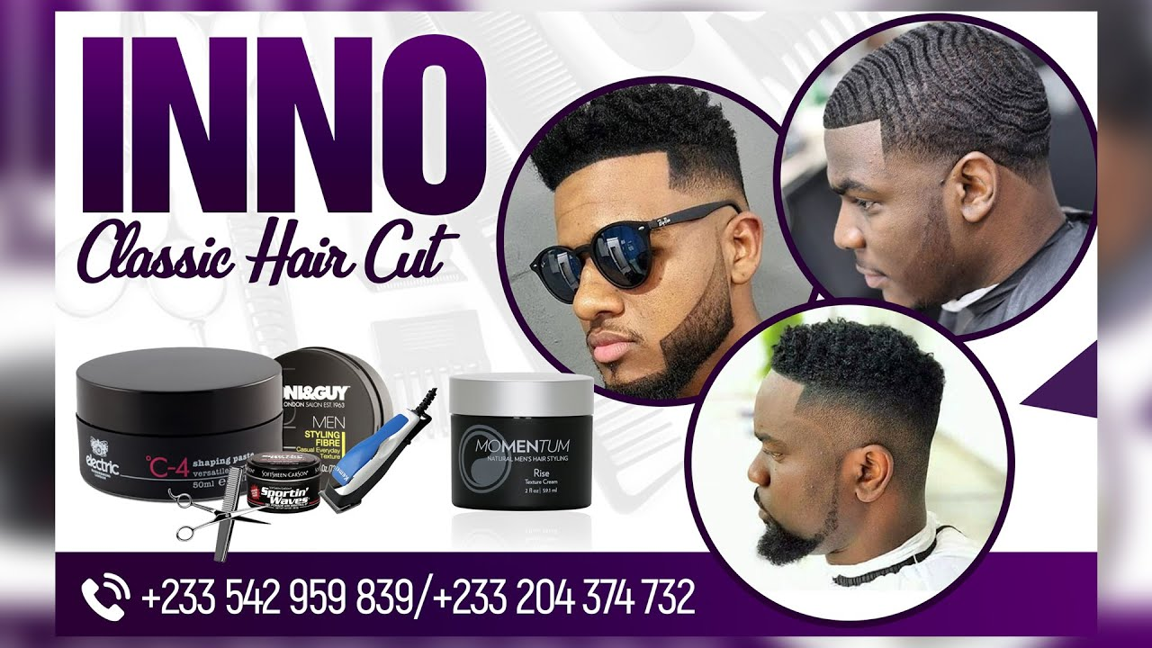 Classy Barbering Hair Salon Banner Design Photoshop Tutorial Youtube