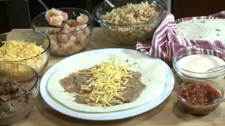 Mexican Recipes - How To Make Shrimp Burritos