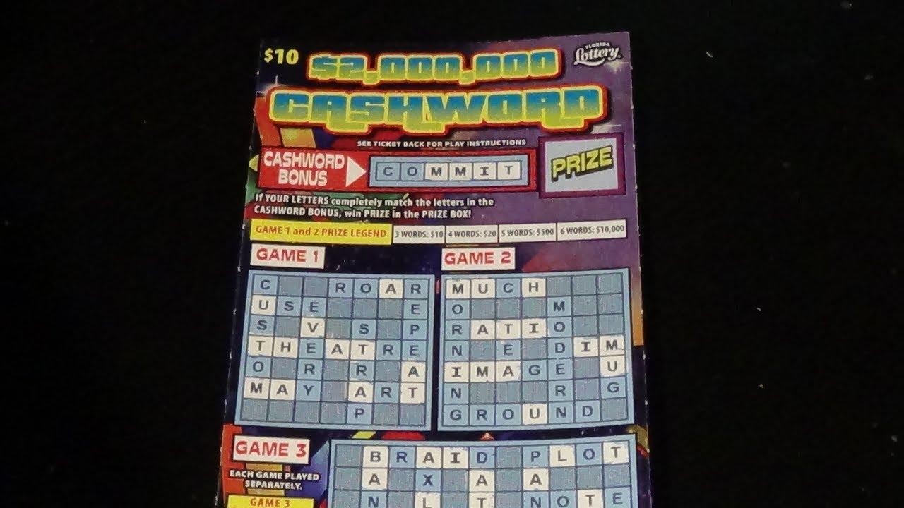 24 Days Of Scratchers Day 16: $2,000,000 CASHWORD FL Lottery Ticket