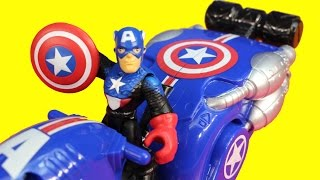 Marvel Playskool Heroes Wolverine Claw Racer Hulk Hawkeye Captain America Shield Bike Electro