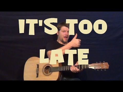 It\'s Too Late (Carole King) Easy Guitar Lesson How to Play Tutorial ...