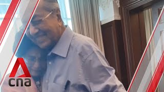Mahathir Mohamad hugged by wife Siti Hasmah