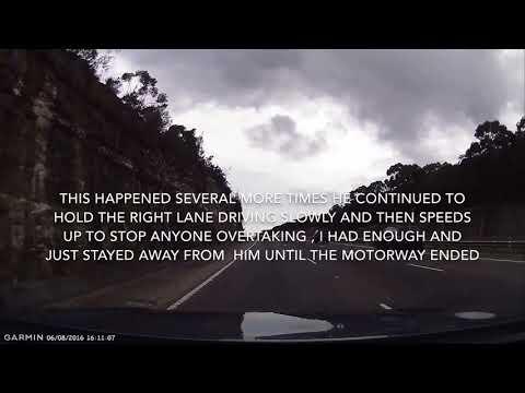 Idiot jeep driver road rage on motorway