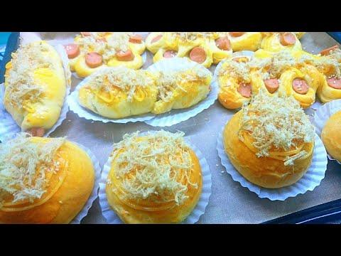 Bánh mì mặn – bánh mì nhân xúc xích chà bông thơm mềm vị sữa – Savory Bread