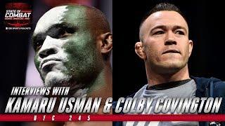 Kamaru Usman & Colby Covington Interviews | UFC 245 | State of Combat