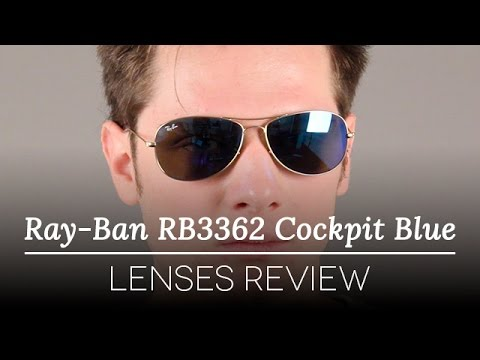 1137ae1676 Ray-Ban RB3362 Cockpit Blue Lenses Review - YouTube