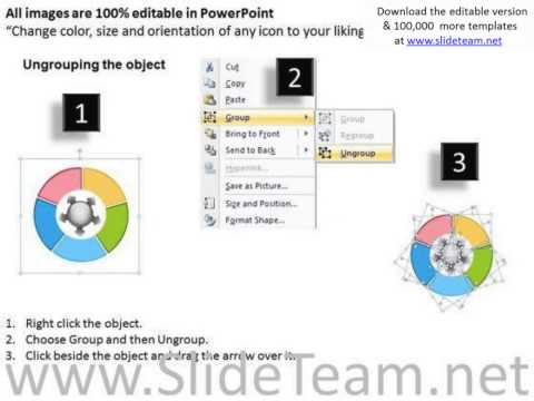 circular flow chart converging factors 5 steps charts and networks powerpoint templates pptx