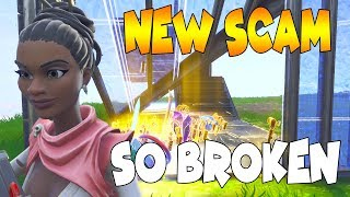 This NEW SCAM is SO BROKEN! Scammer Gets Exposed In Fortnite Save The World