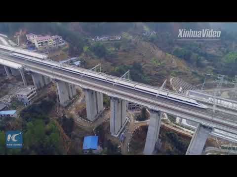 China's Chongqing-Guiyang high-speed railway in final testing phase