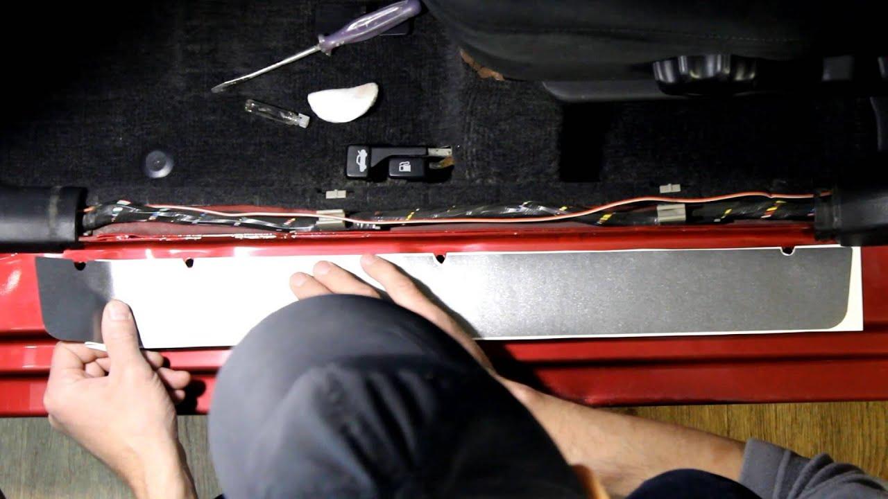 Установка противотуманных фар и молдинга переднего бампера Peugeot .
