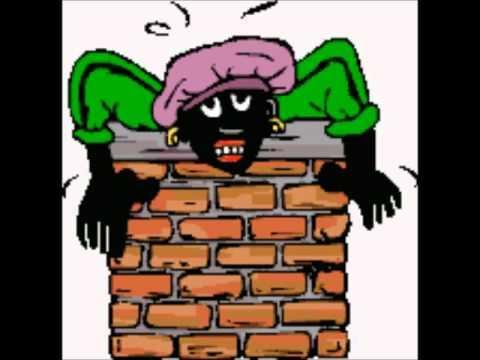 Zwarte piet zit vast in de schoorsteen