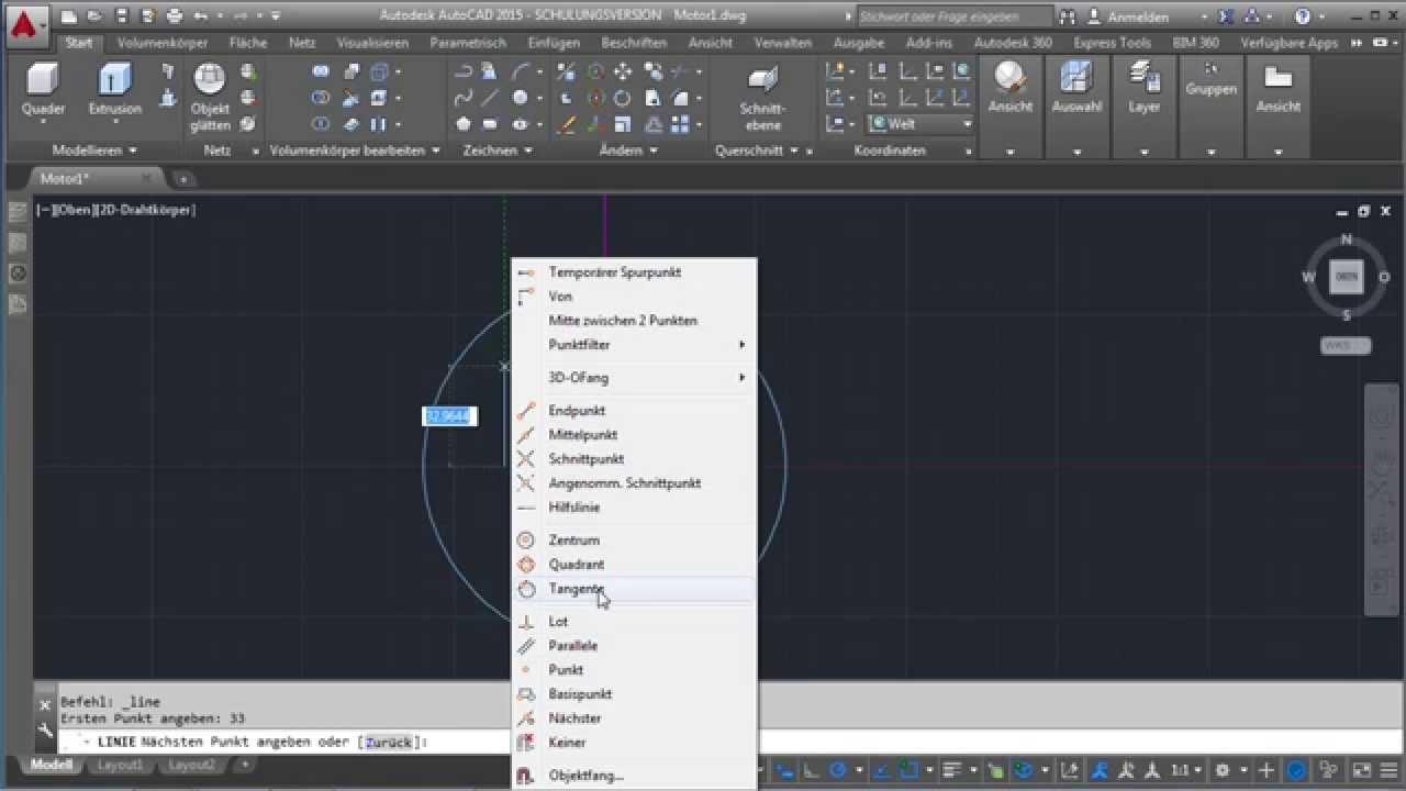 Autocad 3d Konstruktion Erste Skizzen Zeichnen Video2brain Com Youtube