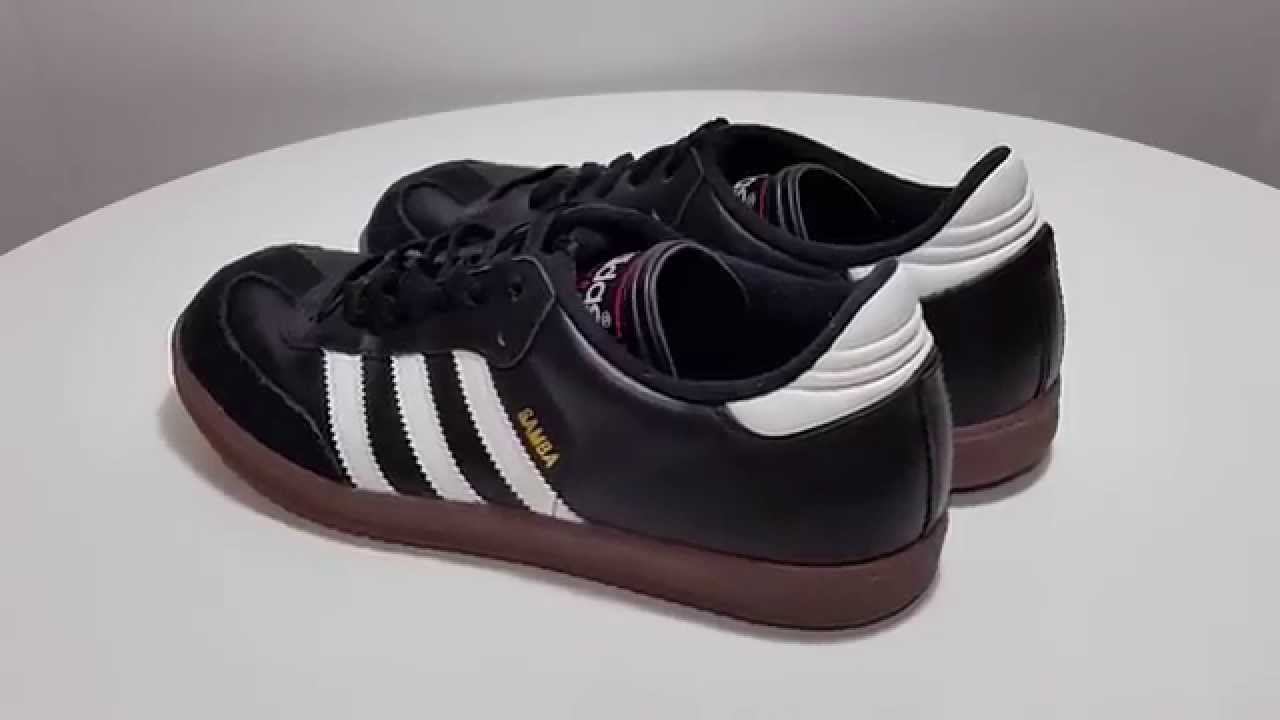 f903c7680a3 ... sweden classic adidas samba black white indoor soccer youth shoes size  6 very good youtube 9b945 ...