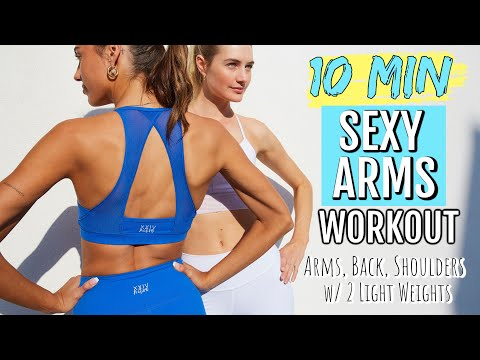 10 MIN SEXY Arms - Toned & Tight // At Home Model Workouts // Sanne Vloet #WithMe