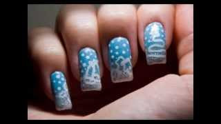 Cute And Simple Christmas And Winter Symbols Nail Art Design Tutorial