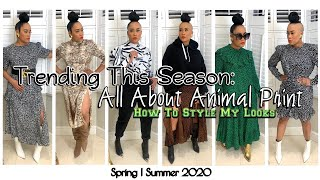 How To Style Animal Print | Big Trend This Season | Spring Summer 2020