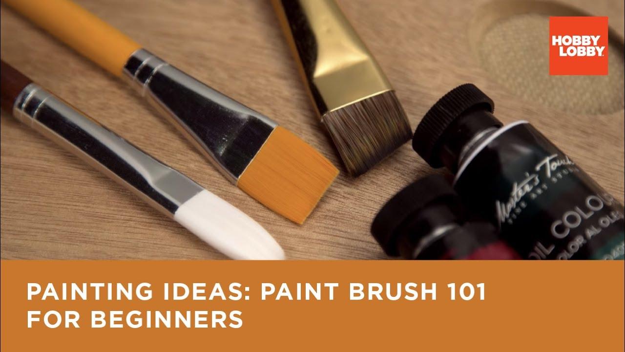 Painting Ideas Paint Brush 101 For Beginners Hobby Lobby