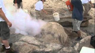 Video Traditional Clambake cooked under sand on a beach download MP3, 3GP, MP4, WEBM, AVI, FLV Januari 2018