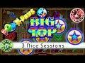 😄 - Pop 'N Pays Big Top slot machine, 3 Nice Sessions, Bonus