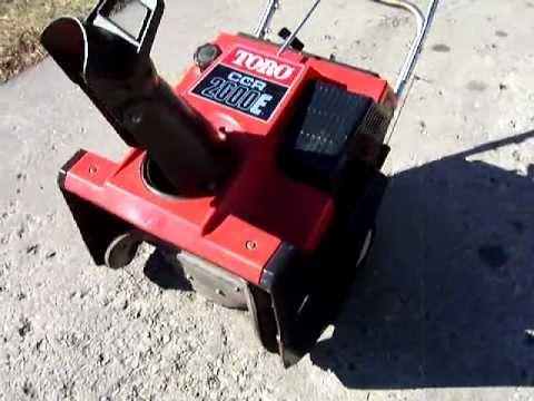toro ccr 2000 parts diagram iota i32 emergency ballast wiring 2000e snow thrower youtube