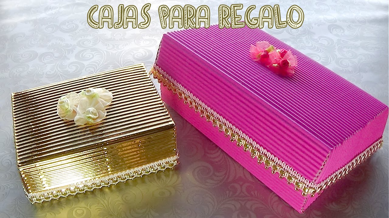 Cajas de regalo hechas con cart n candybu youtube for Cajas de regalo de carton