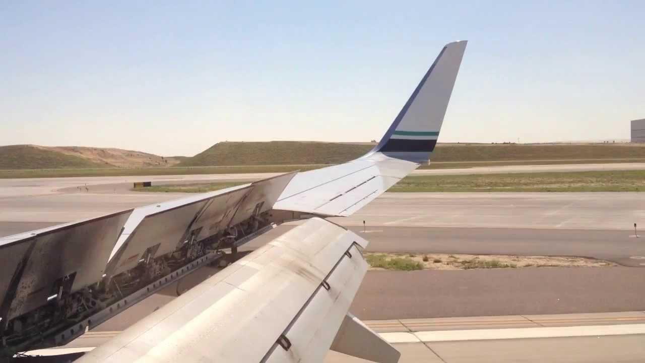 Alaska Airlines Boeing 737 800 Landing Denver Youtube