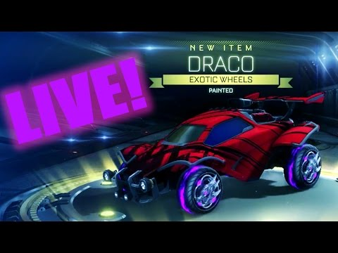 ROCKET LEAGUE PAINTED DRACO WHEELS - NITRO CRATE HYPE!