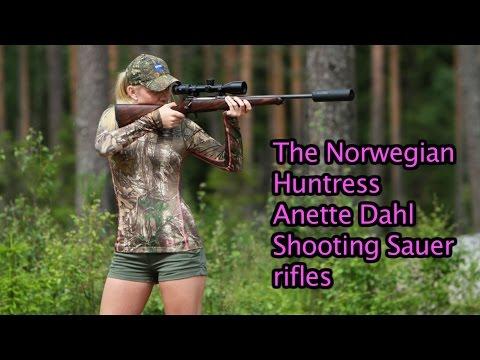 The Norwegian Huntress shooting Sauer rifles by Kristoffer Clausen