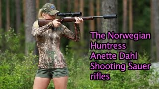 Repeat youtube video The Norwegian Huntress shooting Sauer rifles by Kristoffer Clausen