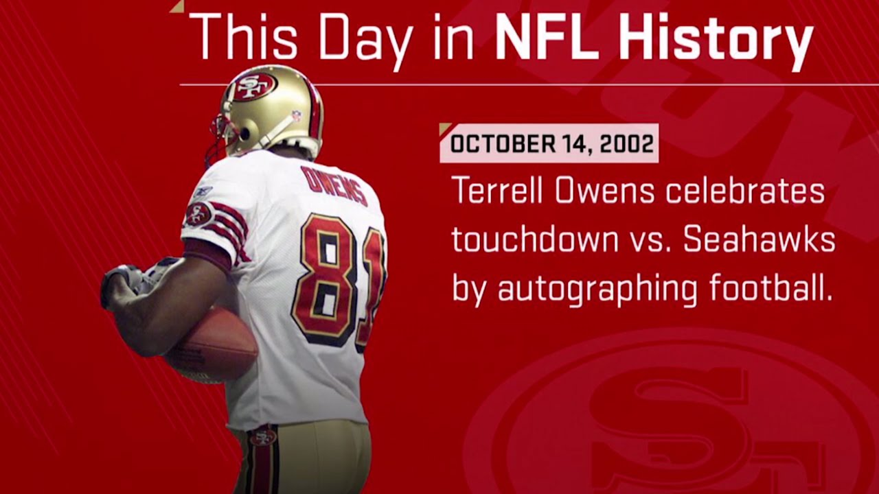 cb7125d83bb2 Terrell Owens Autographs the Football Right After Big TD Catch | This Day  in NFL History (10/14/02) - YouTube