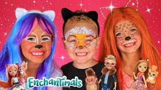 Animal Enchantimals Makeup and Costumes! Squirrel, Hedgehog, Cheetah Makeup